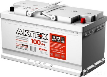 Аккумулятор 100а/ч  -=АкТех=-  г.Свирск (прям. пол.) (+ -) (Кат. номер: АБ6ст-100)
