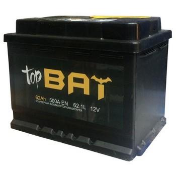 Аккумулятор  62а/ч  -=TopBat=- (пр. пол) (+ -) (Кат. номер: TB062.1)
