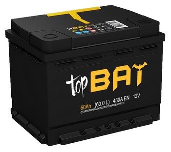 Аккумулятор  60а/ч  -=TopBat=- (пр. пол) (Кат. номер: 6ст-55апз)
