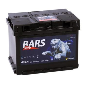 Аккумулятор  55а/ч  -=BARS Silver=- пр. пол. (+ -)