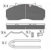 Колодки тормозные дисковые перед SAF 29126 -=DUROLINE=- 4шт (Кат. номер: DP/440 (29126))