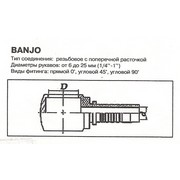 Фитинг РВД Банджо DK12 d=6