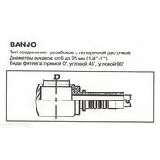 Фитинг РВД Банджо DK14 d= 6