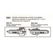 Фитинг РВД DKI (г) 12.22x1.5 d12 внутр. конус